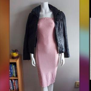 Fashion Nova strapless midi dress